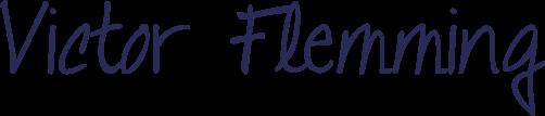 Unterschrift des Funkenflug Gründers Victor Flemming